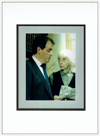 Kevin Whately & Anna Massey Signed Photo - Lewis